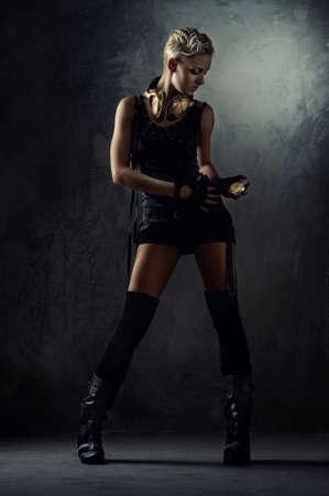 dark blond: Attractive steam punk girl Stock Photo