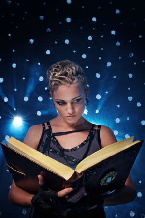 Steam punk girl with a book Stock Photo - 9026938