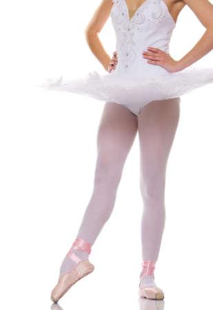 dancer legs: Close-up of a ballet dancer legs