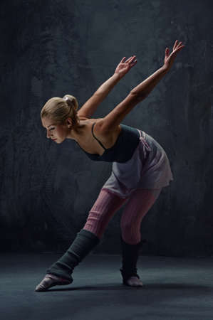 Attractive modern ballet dancer photo