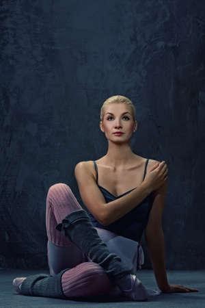Attractive modern ballet dancer photo