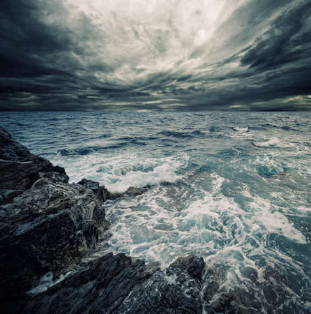 moody background: Ocean storm