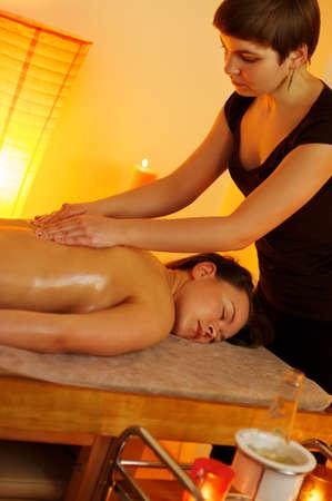 Beautiful woman having a massage Stock Photo - 9102279