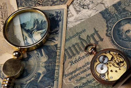 numismatist: Time is money concept Stock Photo