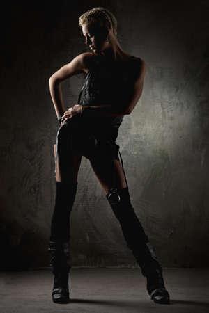 Attractive  steam punk girl photo