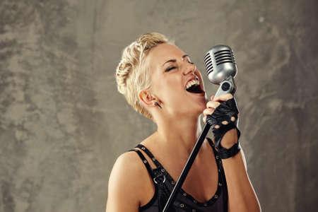 female singer: Attractive steam punk singer