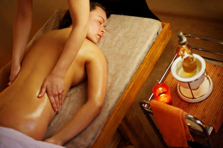 Beautiful woman having a massage Stock Photo - 9102380