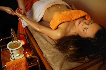 Beautiful woman having a palm massage Stock Photo - 9102386