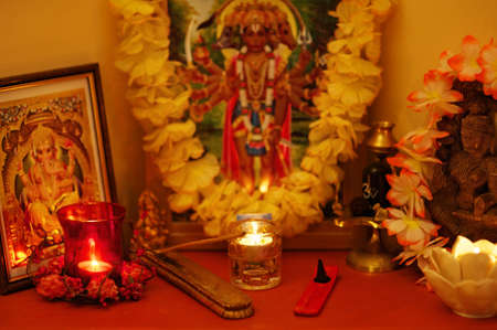 shakti: Ihdian altar Stock Photo