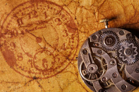 Close-up of an ancient gears photo