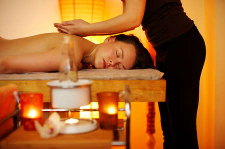 Beautiful woman having a massage Stock Photo - 9117899