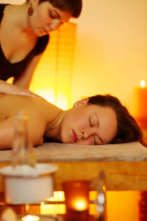 Beautiful woman having a massage Stock Photo - 9117895