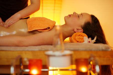 Beautiful woman having a massage Stock Photo - 9117942