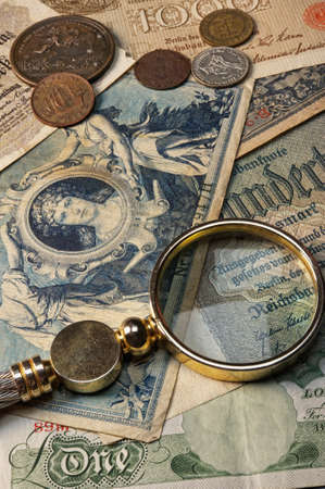 numismatic: Old money with a lope on it