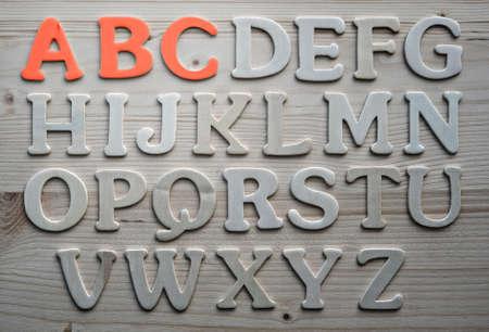 English alphabet background Stock Photo - 9252629
