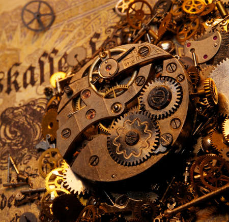 The gears on the old banknote photo