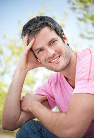 Handsome man outdoors Stock Photo - 9418146