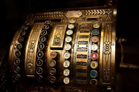 cash machine: Vintage cash register Stock Photo