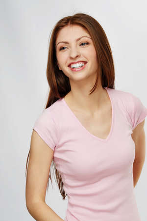 Beautiful brunette woman photo