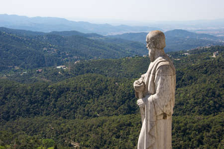 Beautiful view from Tibidabo hill, Spain photo