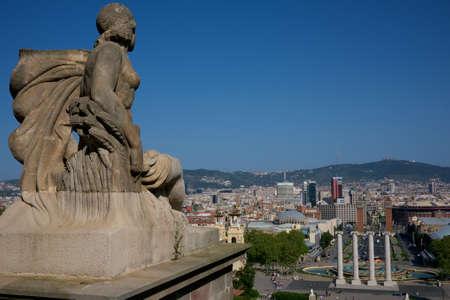 Beautiful view of Barcelona city photo