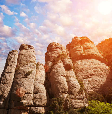 Mountains of Montserrat, Spain photo