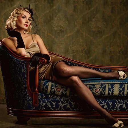 Beautiful woman retro portrait Stock Photo - 9904525