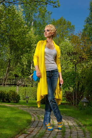 Attractive stylish woman outdoors Stock Photo - 9904809