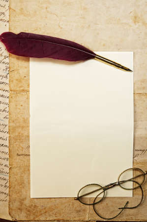 poezie: Vintage brief concept Stockfoto