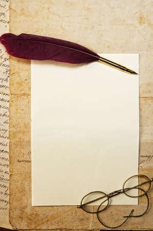 poetry: Vintage letter concept