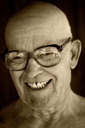 Portrait of an elderly man.  photo