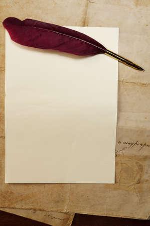 Vintage letter concept photo