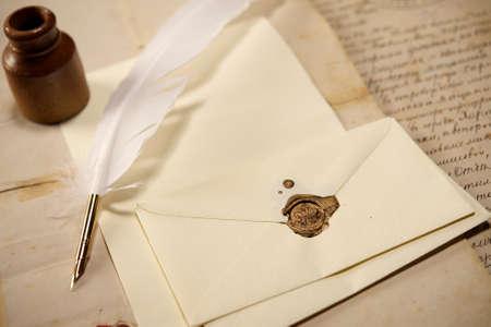 handwriting: Vintage letter concept