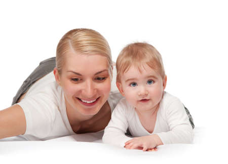 Happy mother with her baby Stock Photo - 9904868