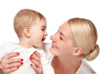 Happy mother with her baby Stock Photo - 9904826