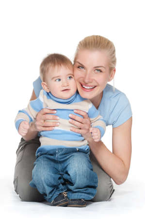 Happy mother with her baby Stock Photo - 9904886