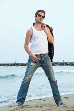 Handsome man on the beach Stock Photo - 9904876