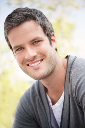 Handsome man smiling portrait photo