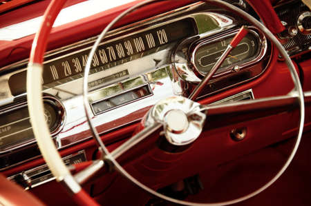 Vintage car inter. Stock Photo - 9949856