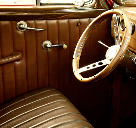 oldtimer: Vintage car interior.