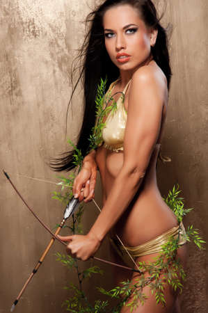 bow hair: Arquero de Amazonas hermosa