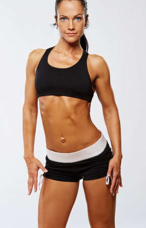 Beautiful woman after fitness exercise. Stock Photo - 10199623
