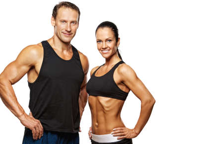 Beautiful athletic couple. photo