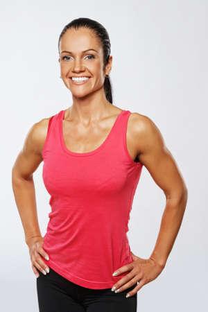 Beautiful athlete woman after training. photo