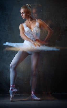 Beautiful ballet dancer in motion. Stock Photo - 10479382