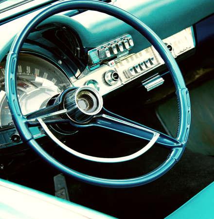Retro car interior photo