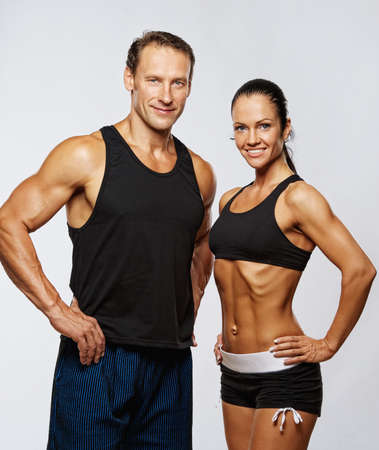 athletic activity: Beautiful athletic couple.