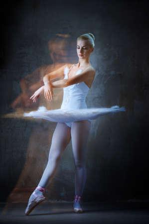 Beautiful ballet dancer in motion.  photo