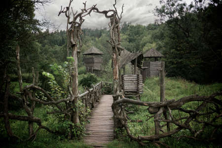 fortification: Medieval wooden fortification.