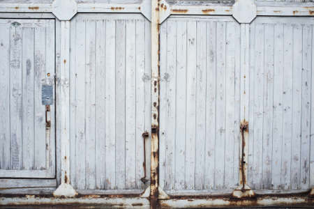 Old wooden gate. photo